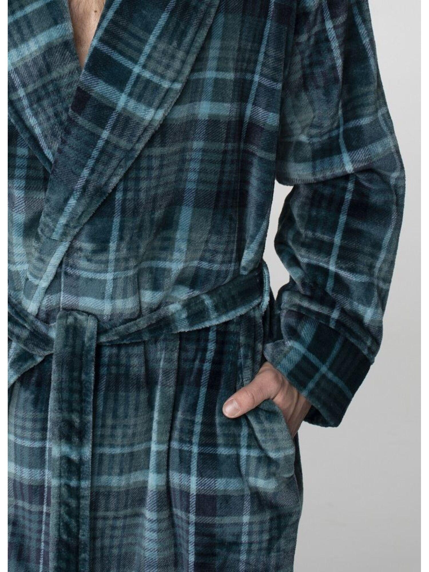 Мужской теплый халат MGL 048 19/20 зеленый, KEY