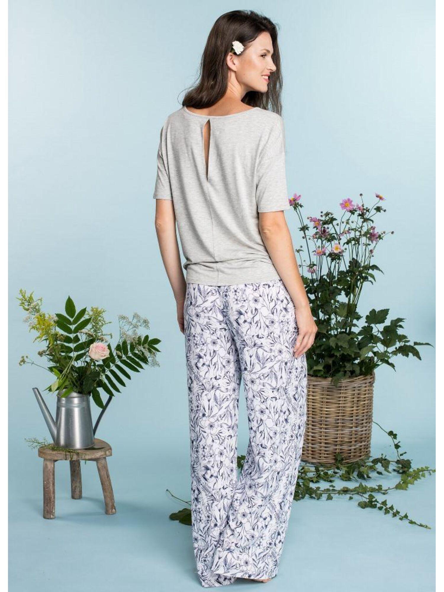 Комплект домашний женский из вискозы с брюками LHS 913 A20, KEY