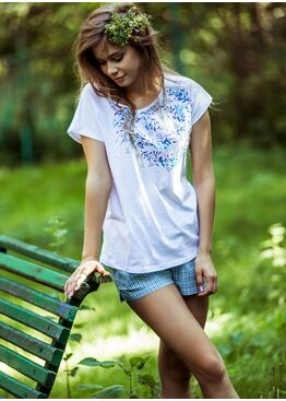 Пижама LNS 488 белый/голубой