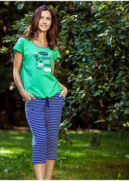Пижама LNS 632 синий/зеленый