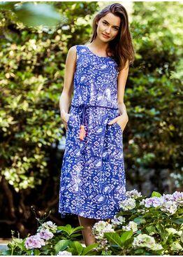 Платье LHD 891 синий