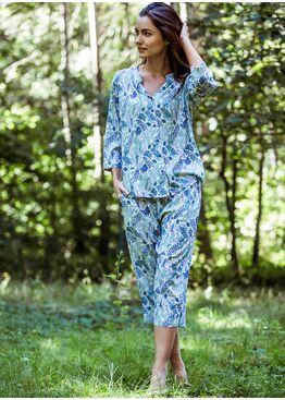 Пижама женская LHS 532 белый/голубой