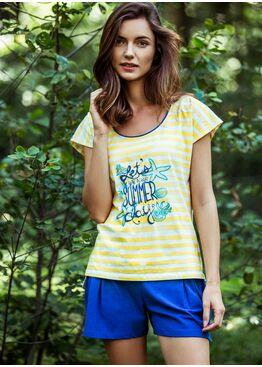 Пижама LNS 326 синий/жёлтый