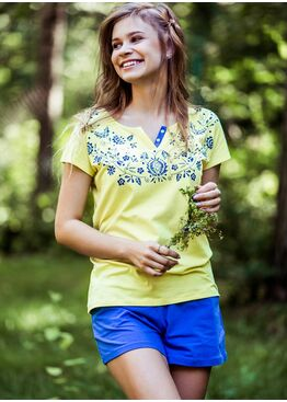 Пижама LNS 549 синий/жёлтый