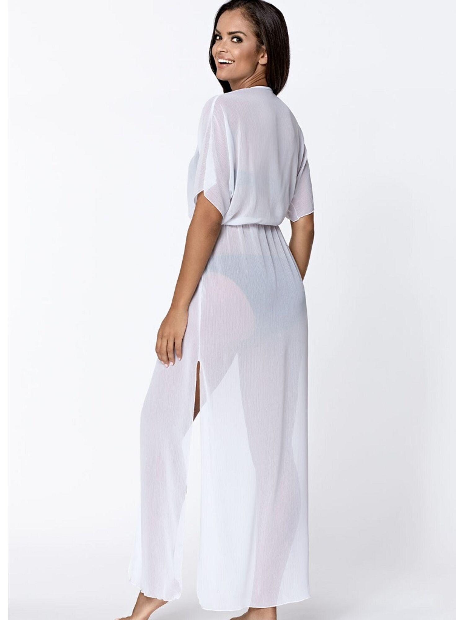 Женский пляжный халат L6018/9 белый, Lorin (Польша)