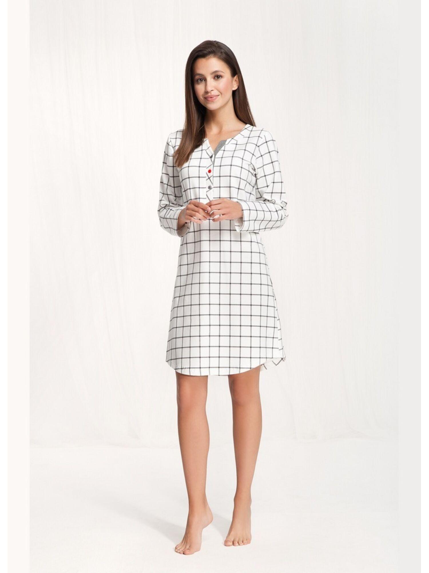 Сорочка женская длинная 070, белый, LUNA