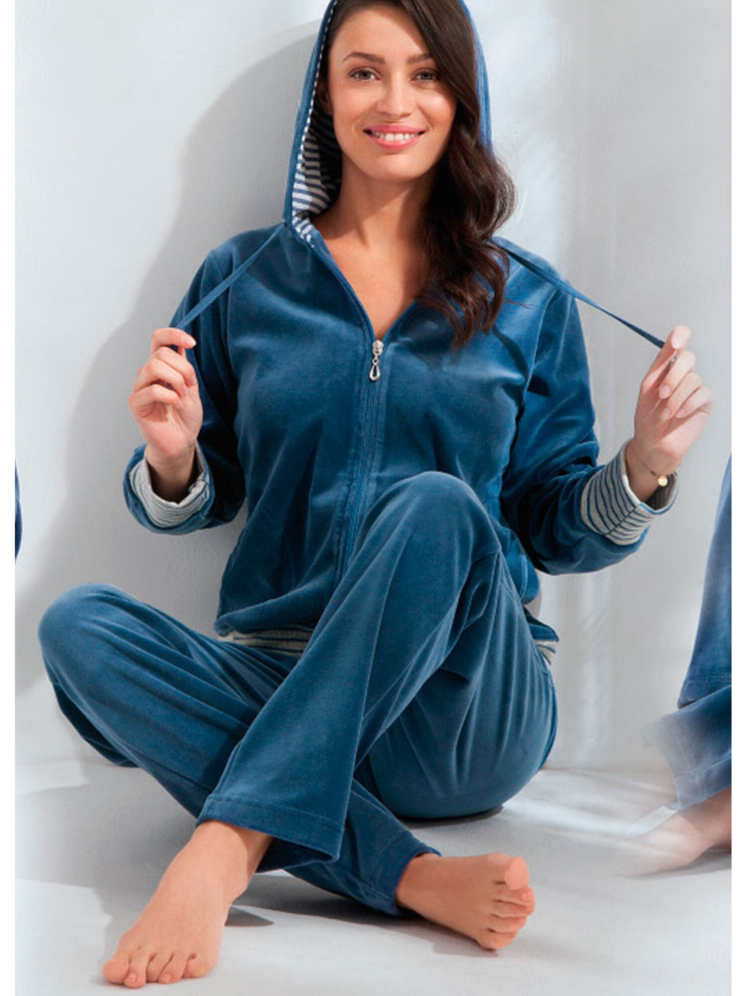 Домашний костюм 365 DRES, синий, Luna
