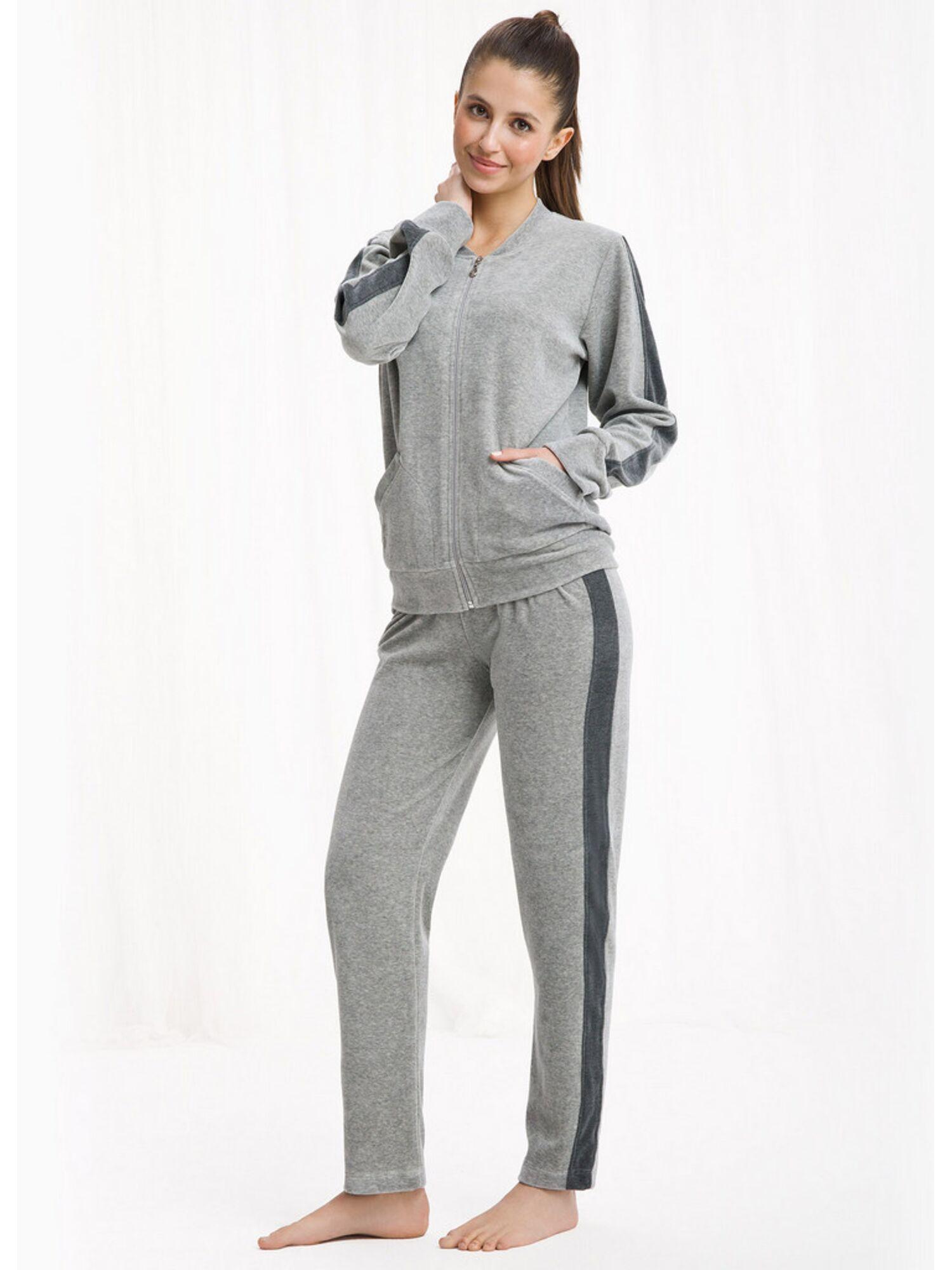 Домашний костюм 303 DRES, серый, Luna