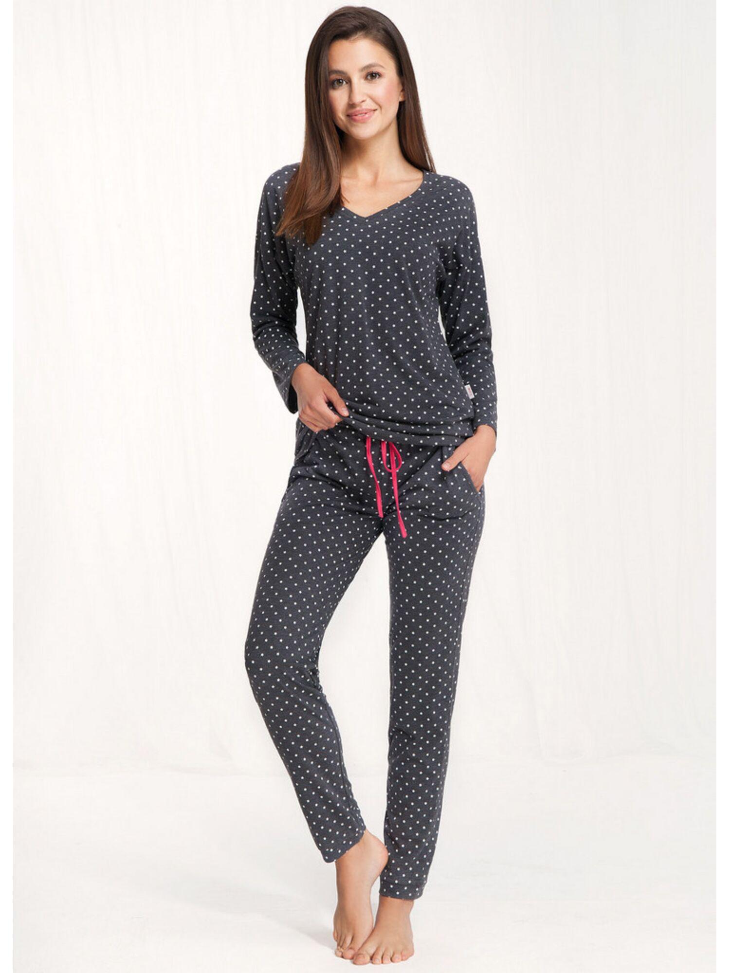 Пижама женская со штанами 497, серый, Luna