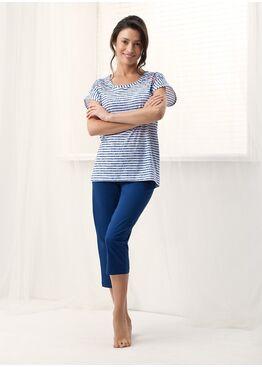Пижама 569 синий/белый