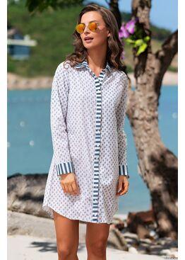 Рубашка, туника пляжная Доминикана 1442, Mia-Amore