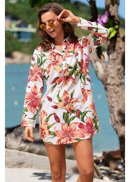 Рубашка, туника пляжная Доминикана 1449, Mia-Amore
