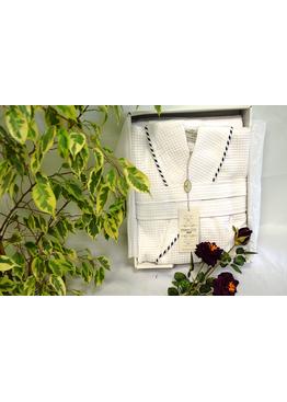 Халат мужской и 2 полотенца в наборе MARINE, MAISON D`OR
