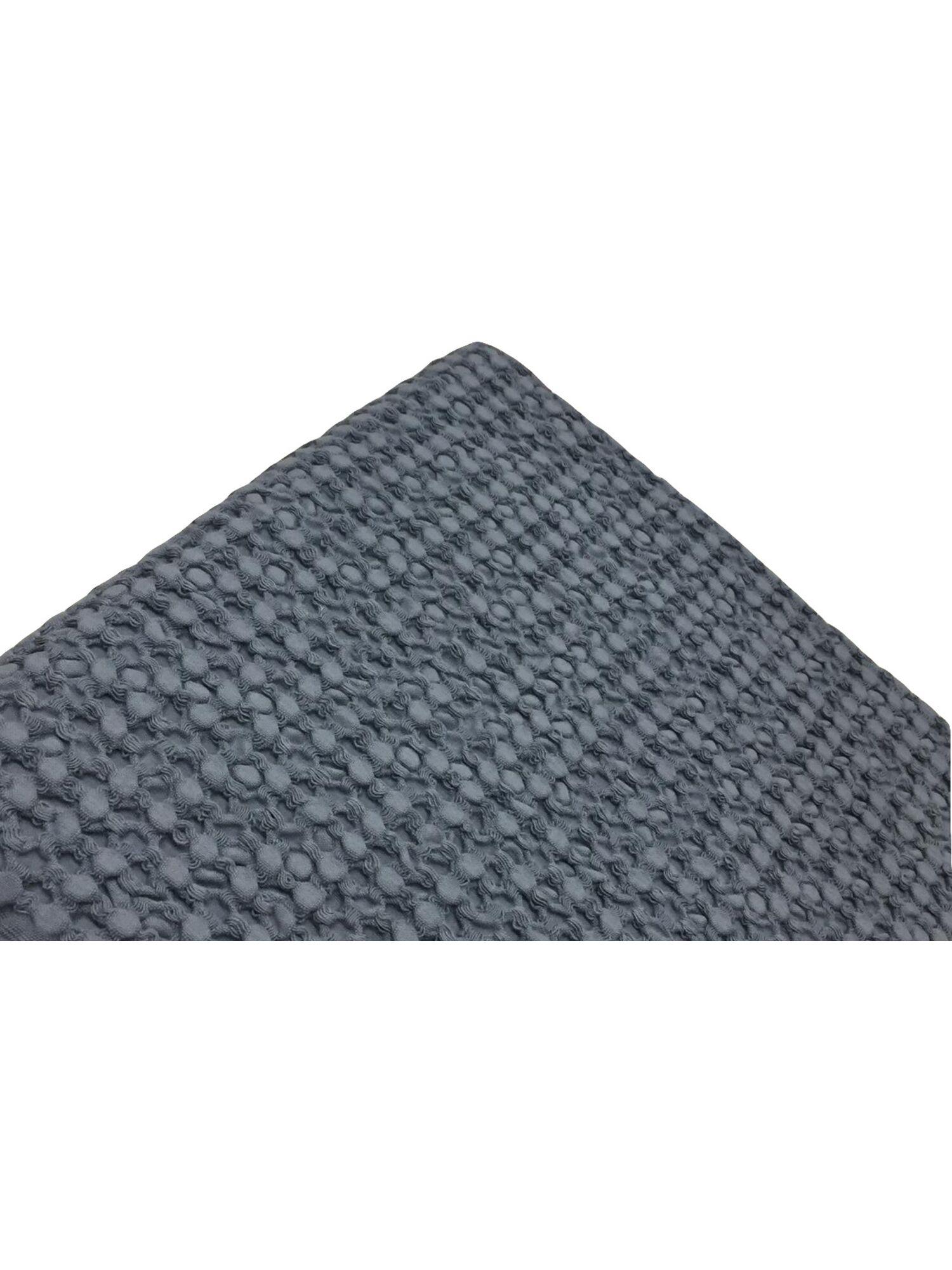 Плед вафельный SIMONA с кисточками, натуральный хлопок,130*150, серый (антрацит), MAISON D`OR