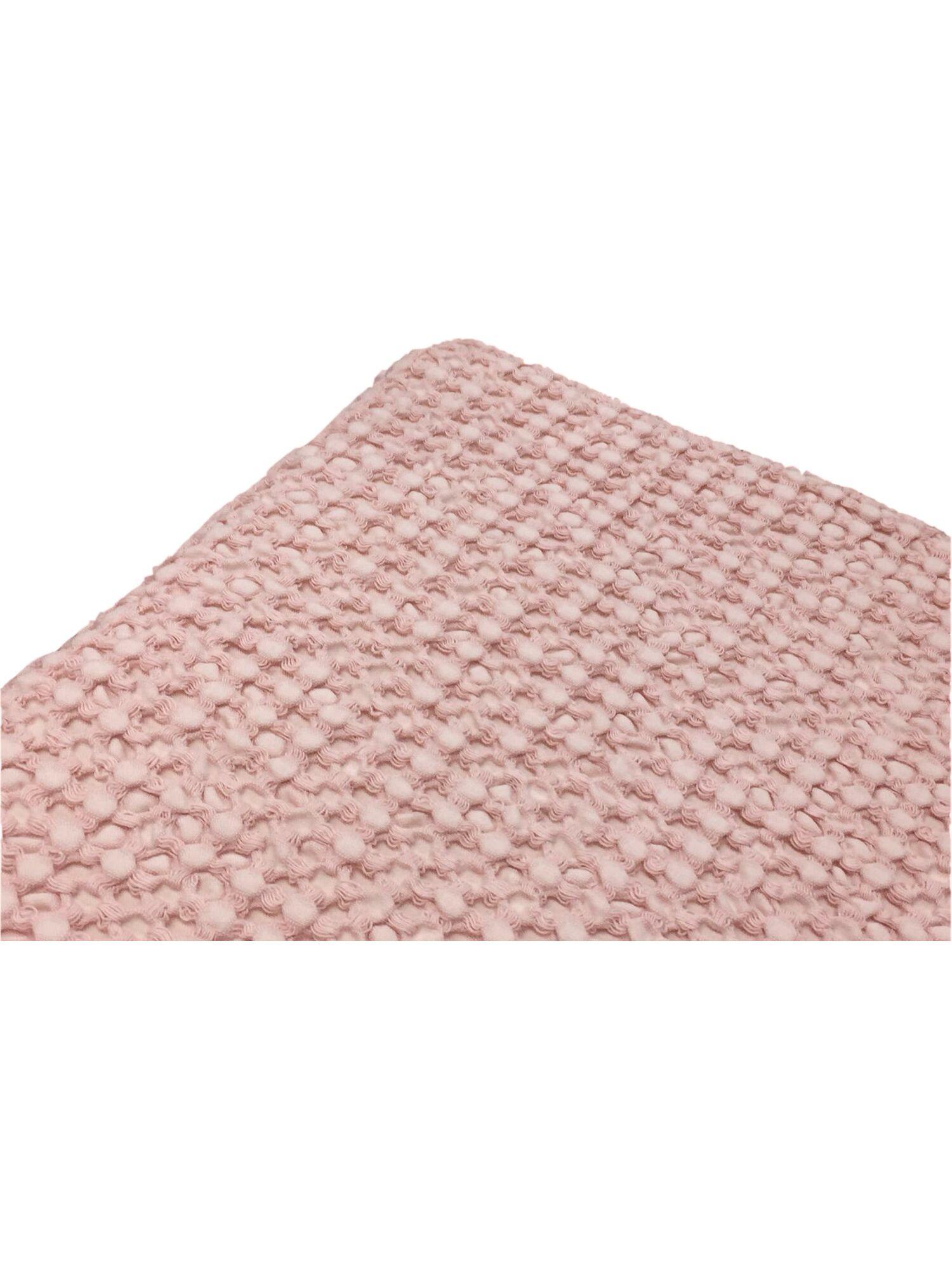 Плед вафельный SIMONA с кисточками, натуральный хлопок,130*150, розовый, MAISON D`OR