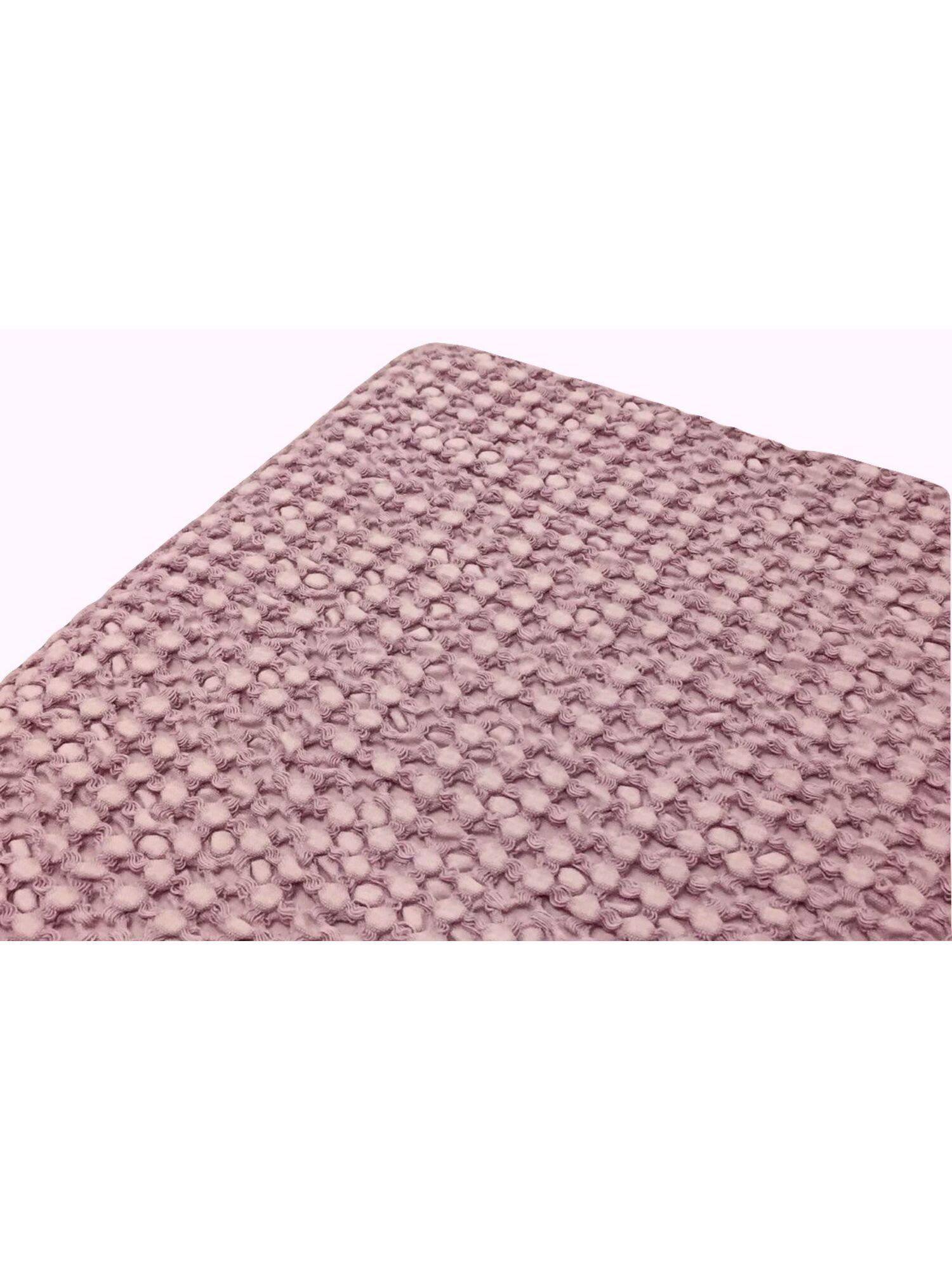 Плед вафельный SIMONA с кисточками, натуральный хлопок,130*150, фиолетовый, MAISON D`OR