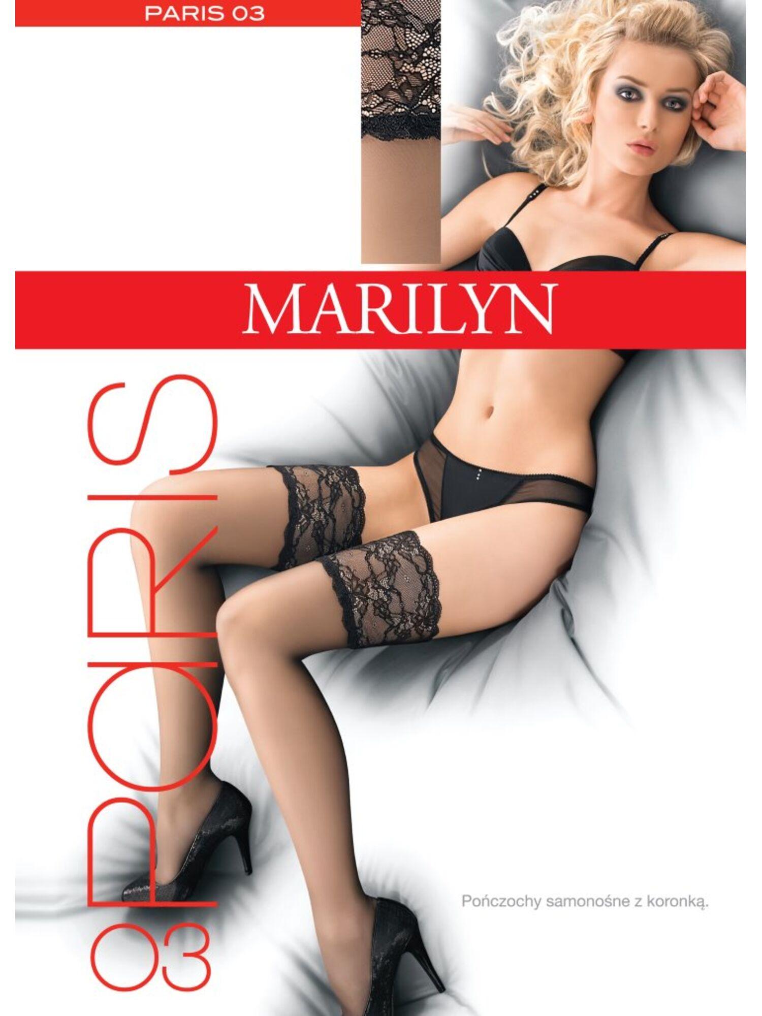 Чулки женские на резинке PARIS 03, Marilyn (Польша)