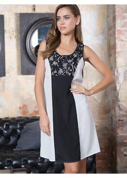 """№17604 Платье """"Black/White"""""""