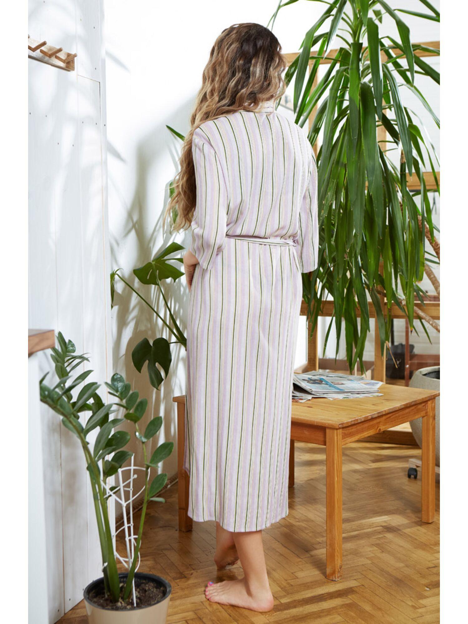 Туника-рубашка женская вискозная 16413 Noemi, сиреневый, Mia-Mia