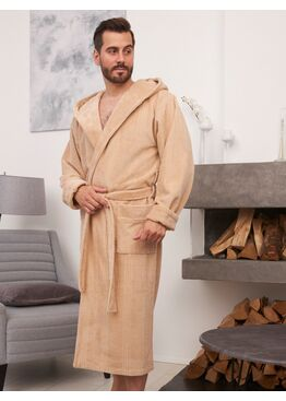 Халат мужской бамбуковый Coragio (Latte)