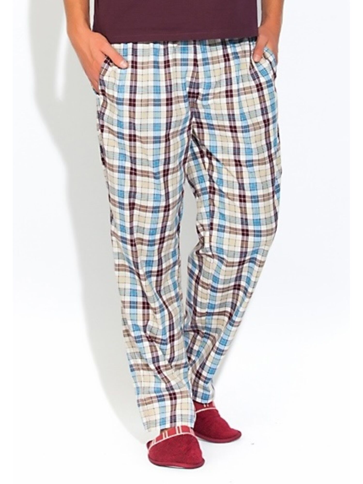 Мужские хлопковые брюки 002 VIKING 2140/3 комбинированная клетка, Peche Monnaie (Россия)