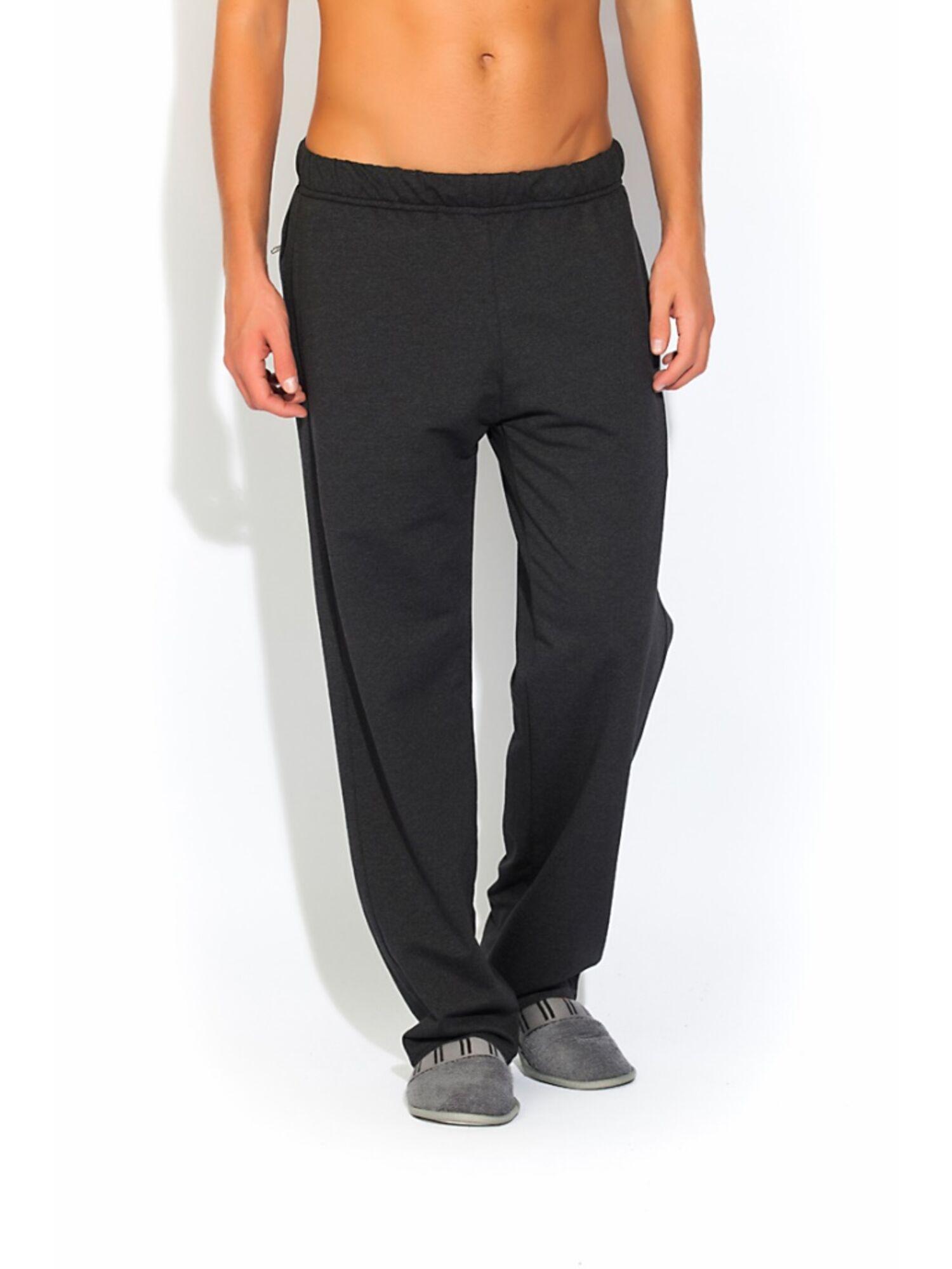 Мужские трикотажные брюки 003 черный, Peche Monnaie (Россия)