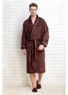 Халат STRONG MAN 923 темно-шоколадный + тапочки