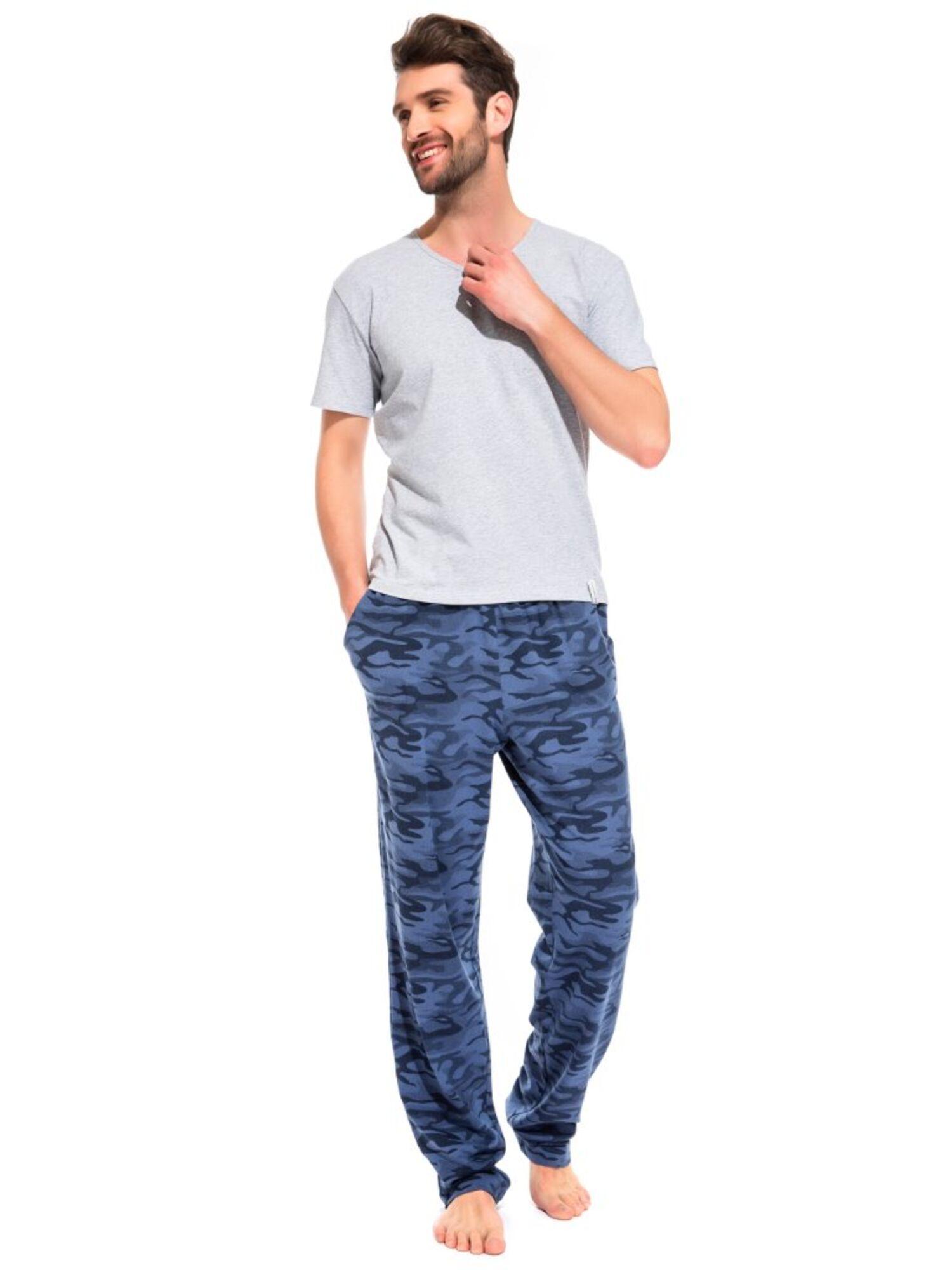 Легкие трикотажные брюки Marine Militaire 042 синий