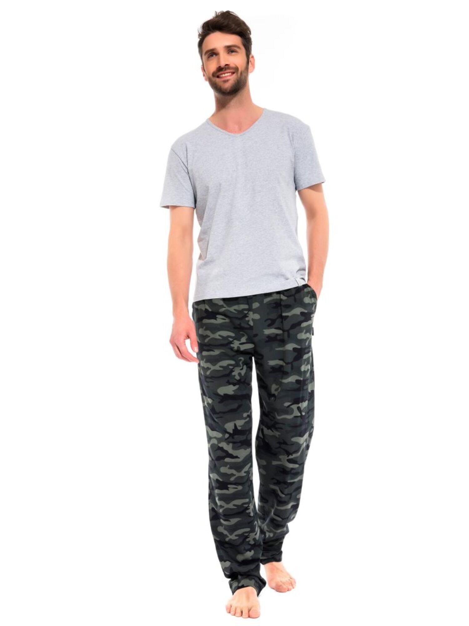 Легкие трикотажные брюки Marine Militaire 042 хаки