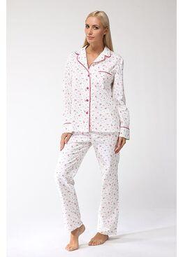 Пижама 1401 Délicate белый/розовый, PECHE MONNAIE