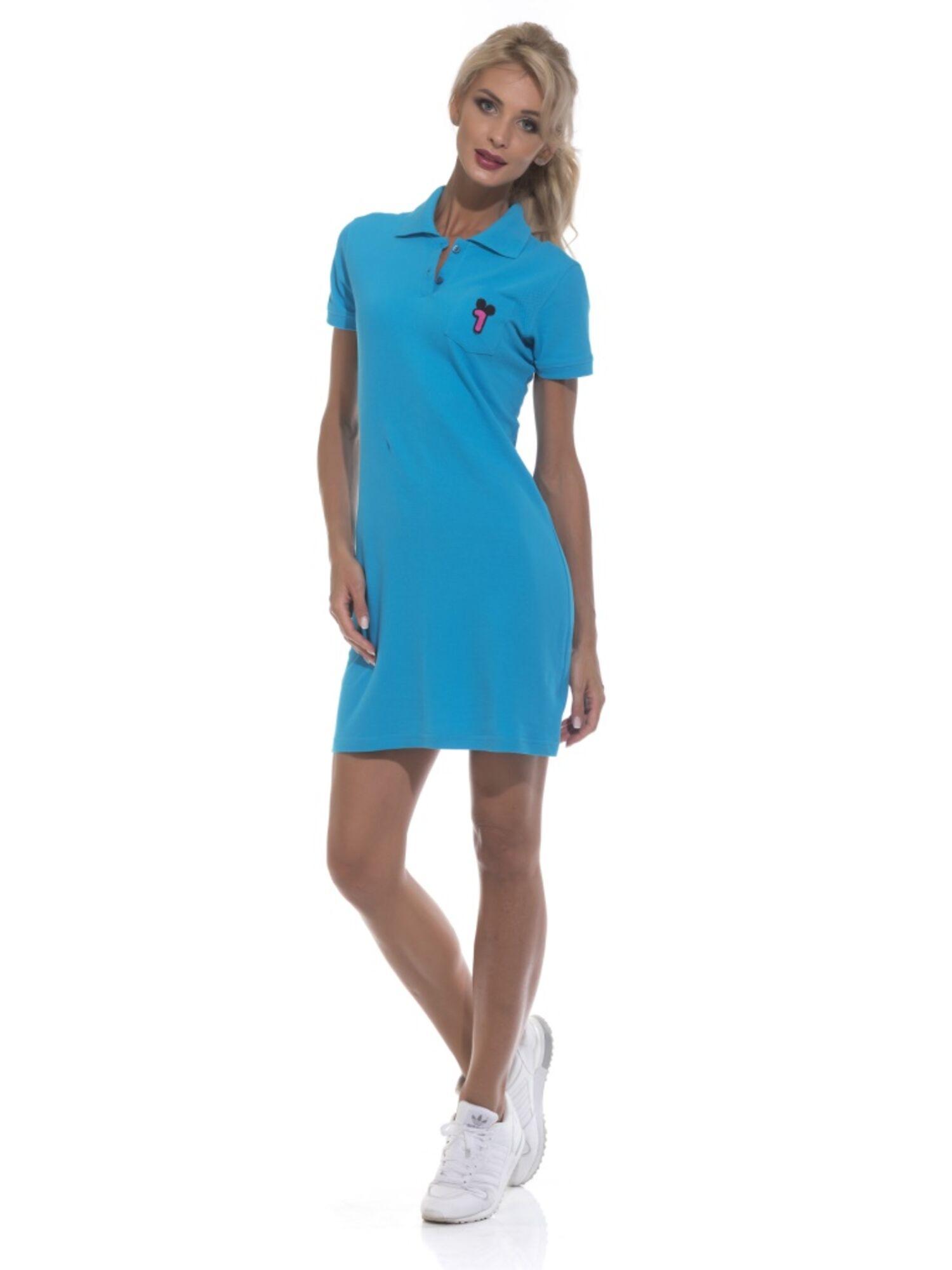 Платье-поло женское 1705 Coquet бирюза