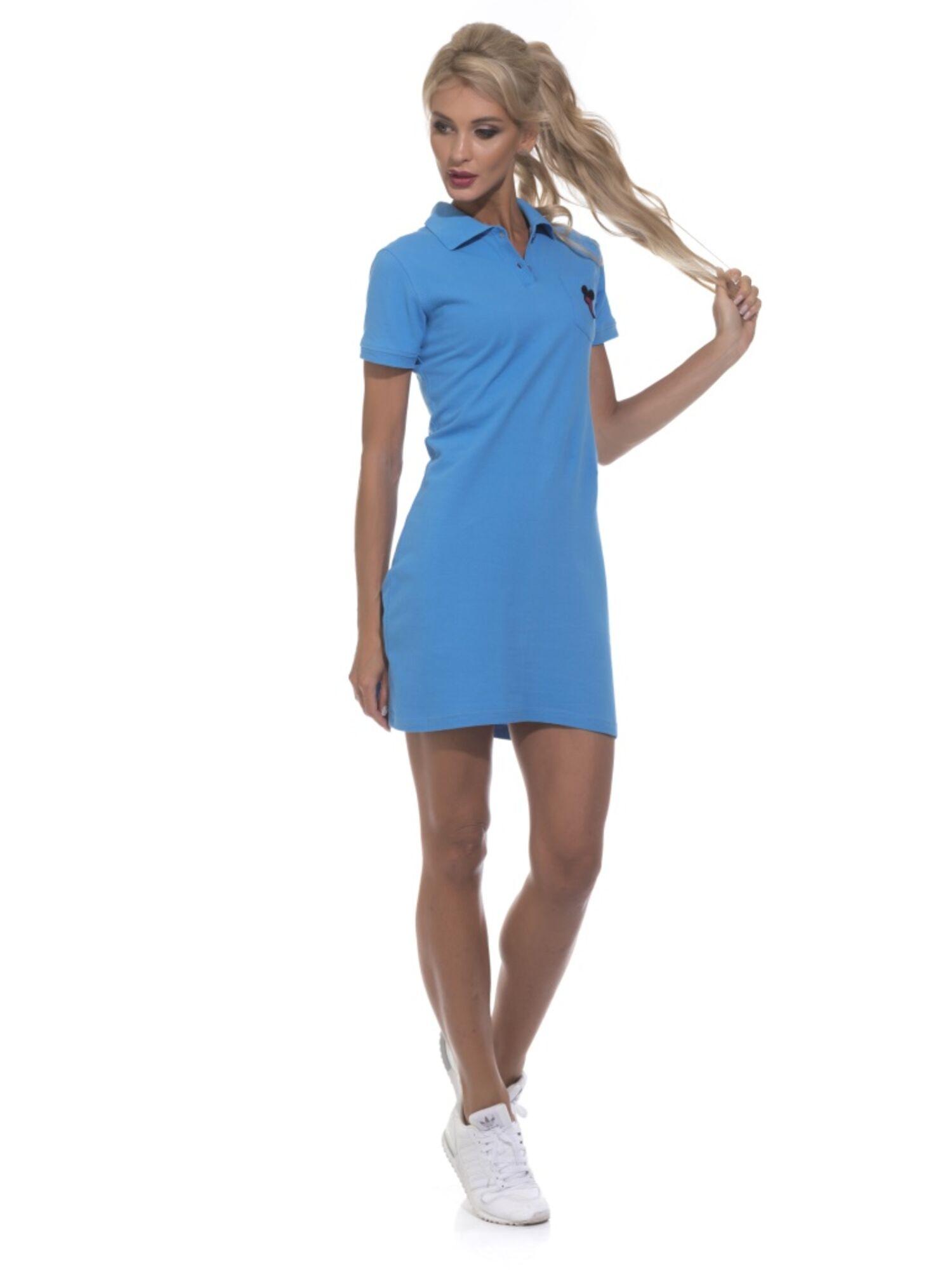 Платье-поло женское 1705 Coquet голубой