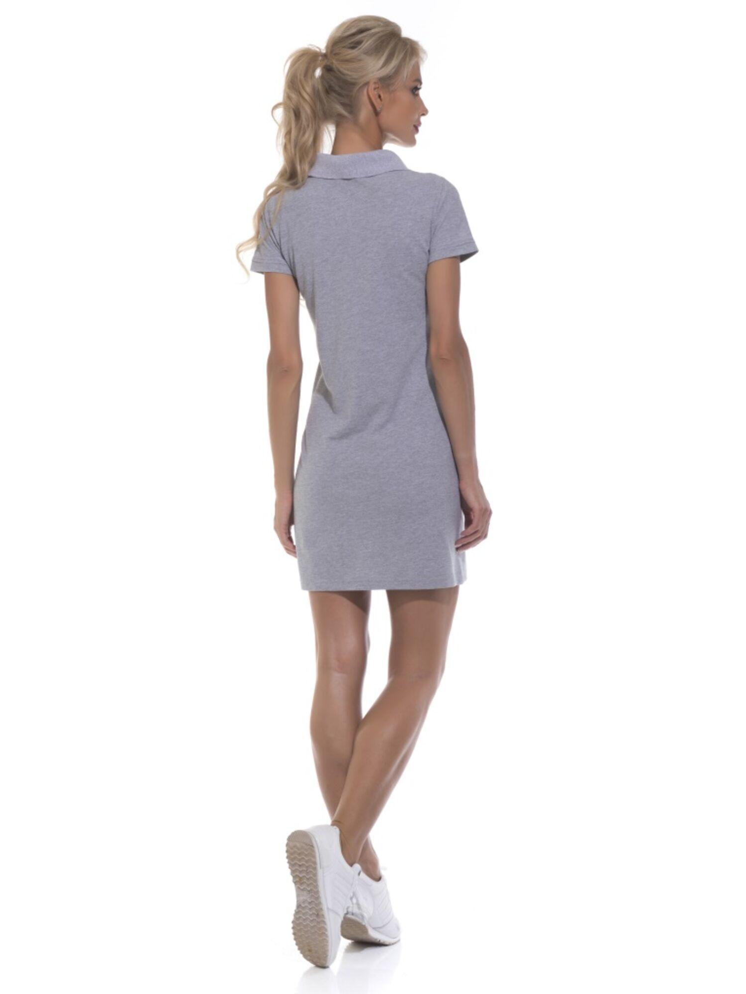 Платье-поло женское 1705 Coquet серый