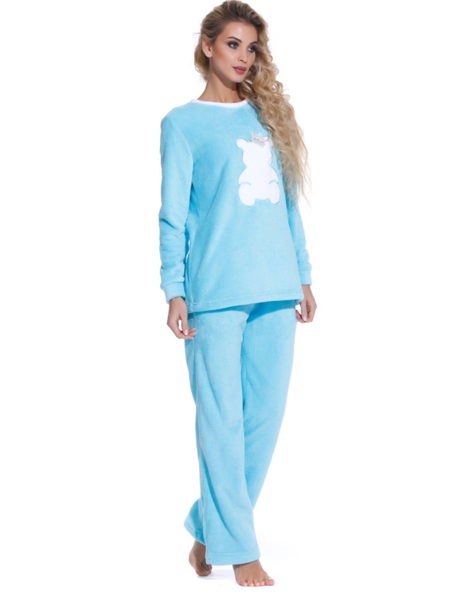 Женская мягкая пижама Soft Teddy 1711 бирюзовый, Peche Monnaie (Россия)