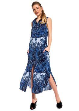 Платье - туника из вискозы Sunrise 221 синий