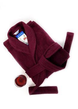 Халат банный махровый Унисекс Vinous Label 365 винный