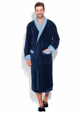 Халат из бамбука GRAF 925 темно-синий