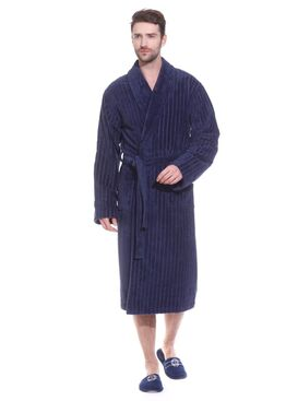 Халат Soho Club 8805 дымчатый синий