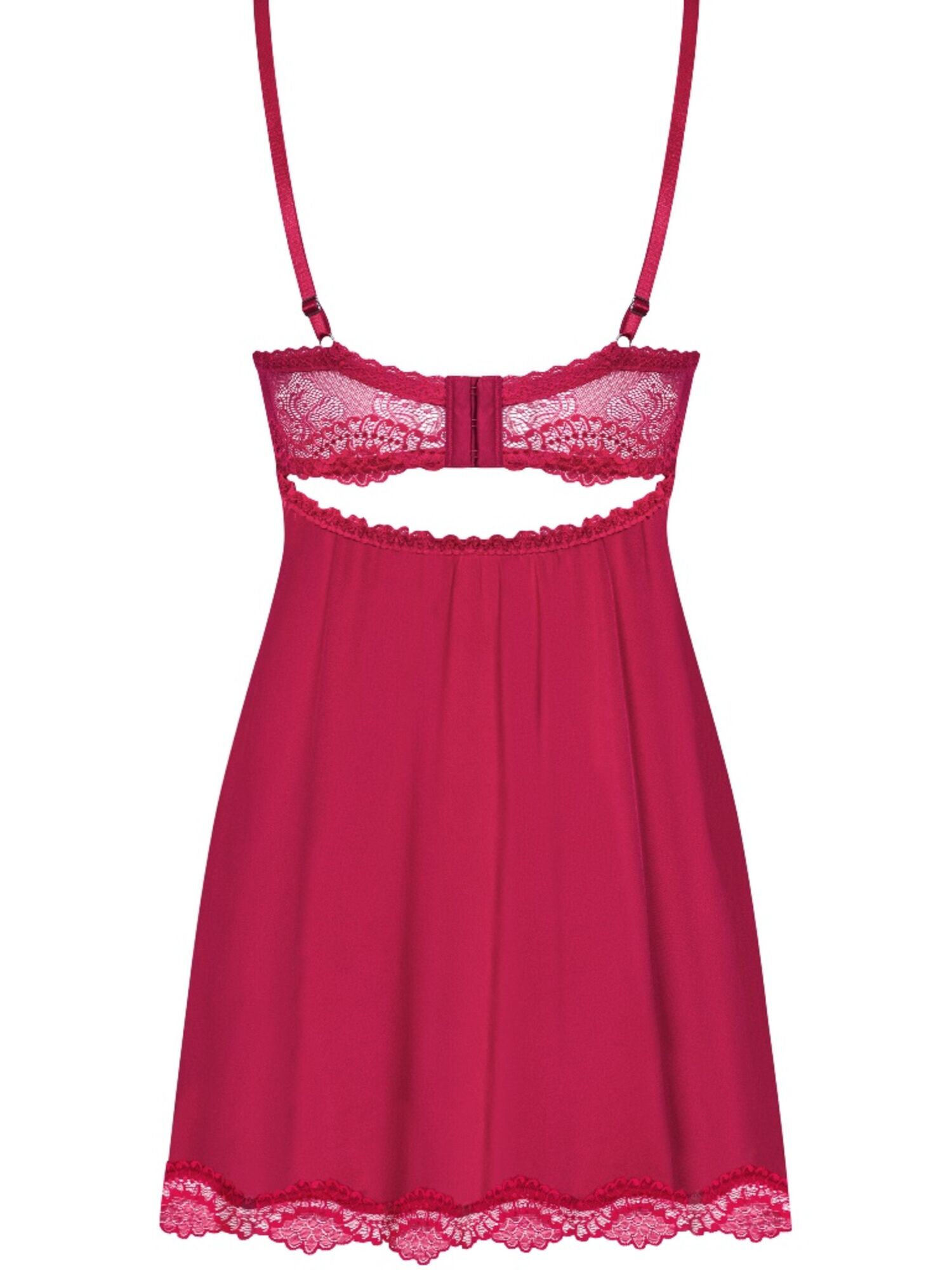 Комплект кружевной Rosalyne BABYDOLL, красный, OBSESSIVE