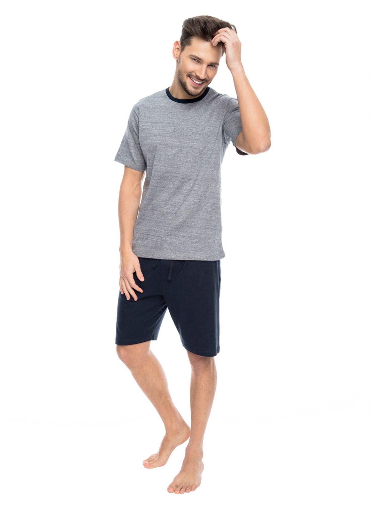 Комплект мужской с шортами PY-086 графит