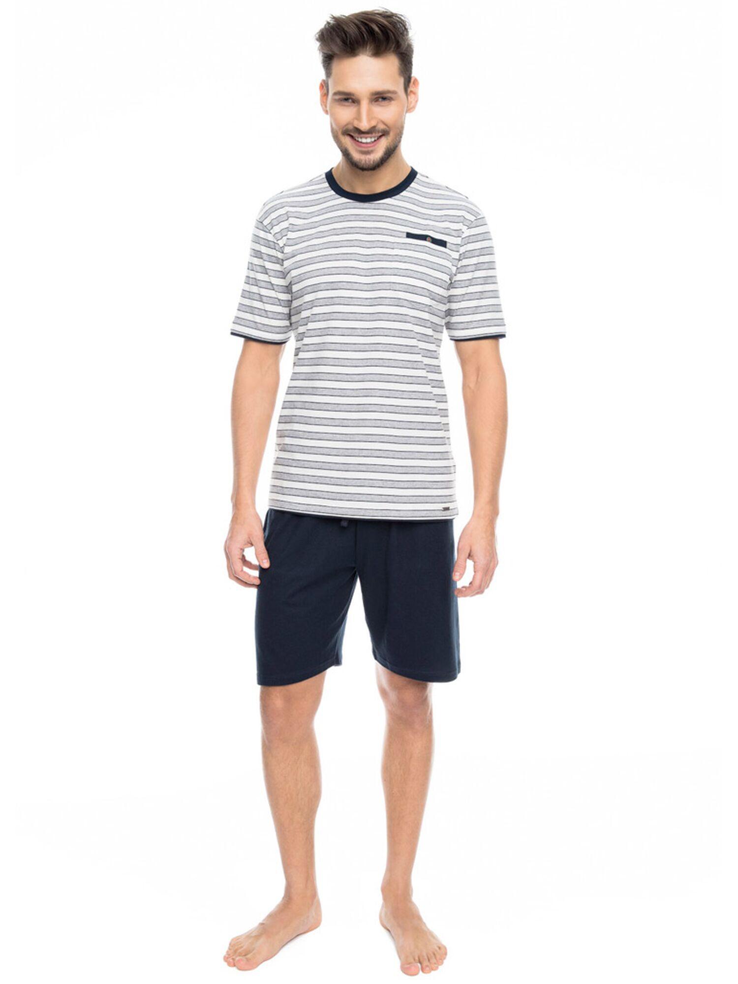 Комплект мужской с шортами PY-089 серый