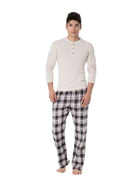 Пижама PY-093 I Бежевый/серый