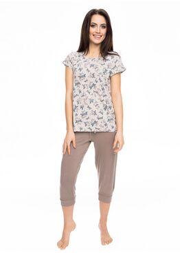 Пижама PY-1039 бежевый/коричневый