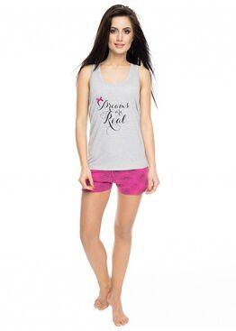 Пижама PY-1053 серый/розовый