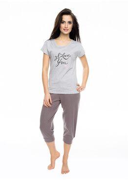 Пижама PY-1057 коричневый/серый