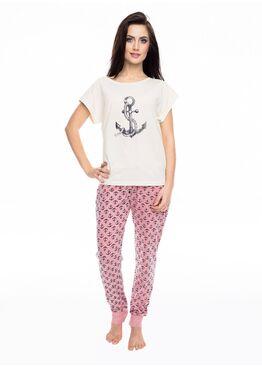 Пижама PY-1061 розовый/экри