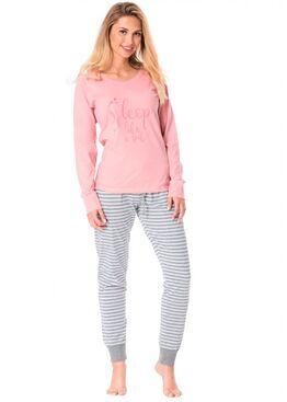 Пижама PY-1078 Розовый/серый