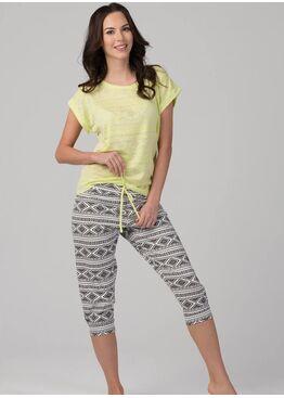 Пижама PY-1093.I серый/желтый