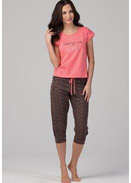 Пижама PY-1095.I коралл/коричневый