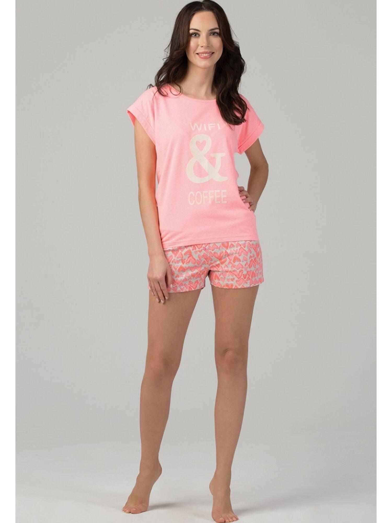 Пижама с шортами PY-1102.II розовый